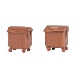 Faller 180960 : Brown dustbins