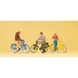 Preiser 10515 : Cyclists at...