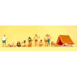 Preiser 10538 : At the camping