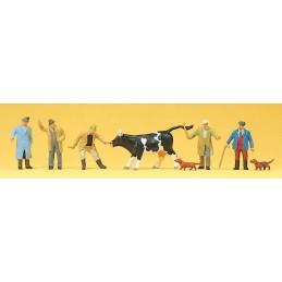 Preiser 10048 : veehandel